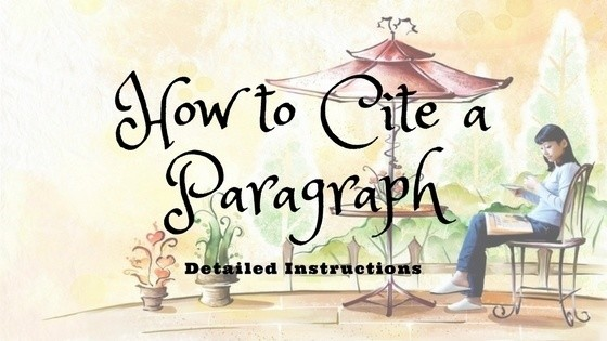 How to cite a paragraph